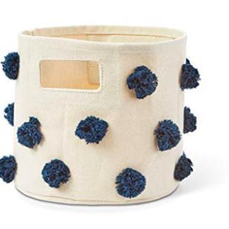 Panière pompom bleu